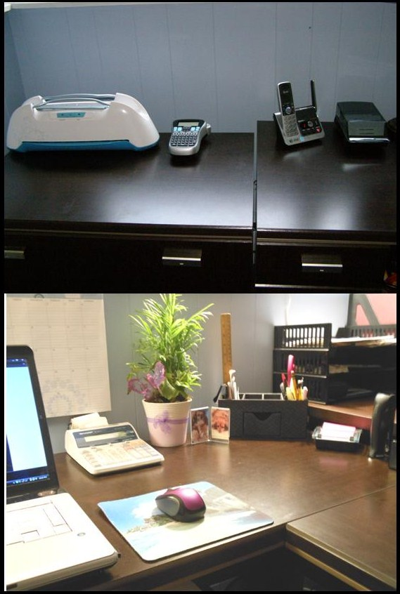 clear office desk