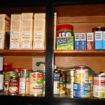 Photo of Pantry Cabinet Before Purge/Sort
