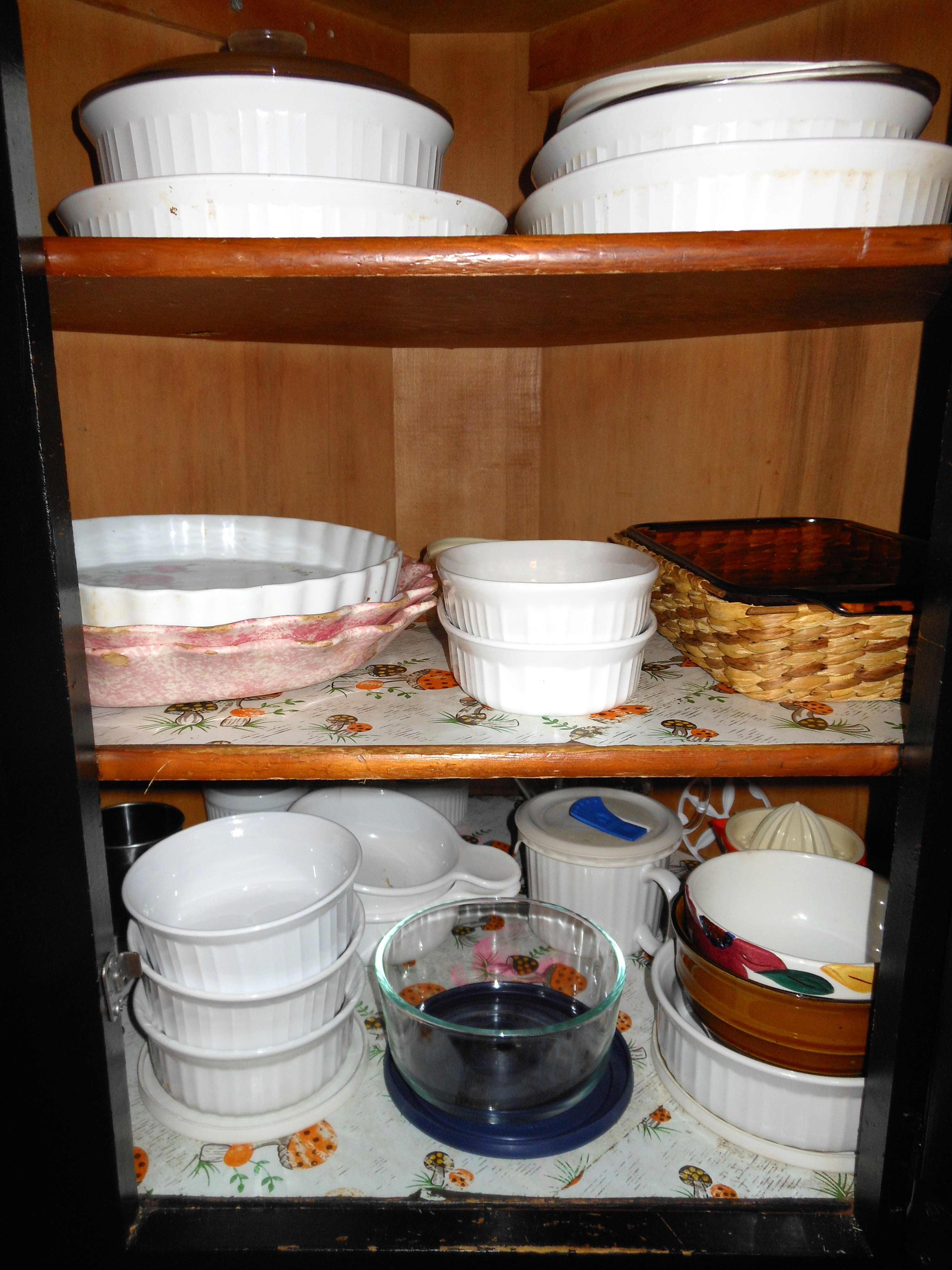 Stack dishware no more than3 high for ease of access.