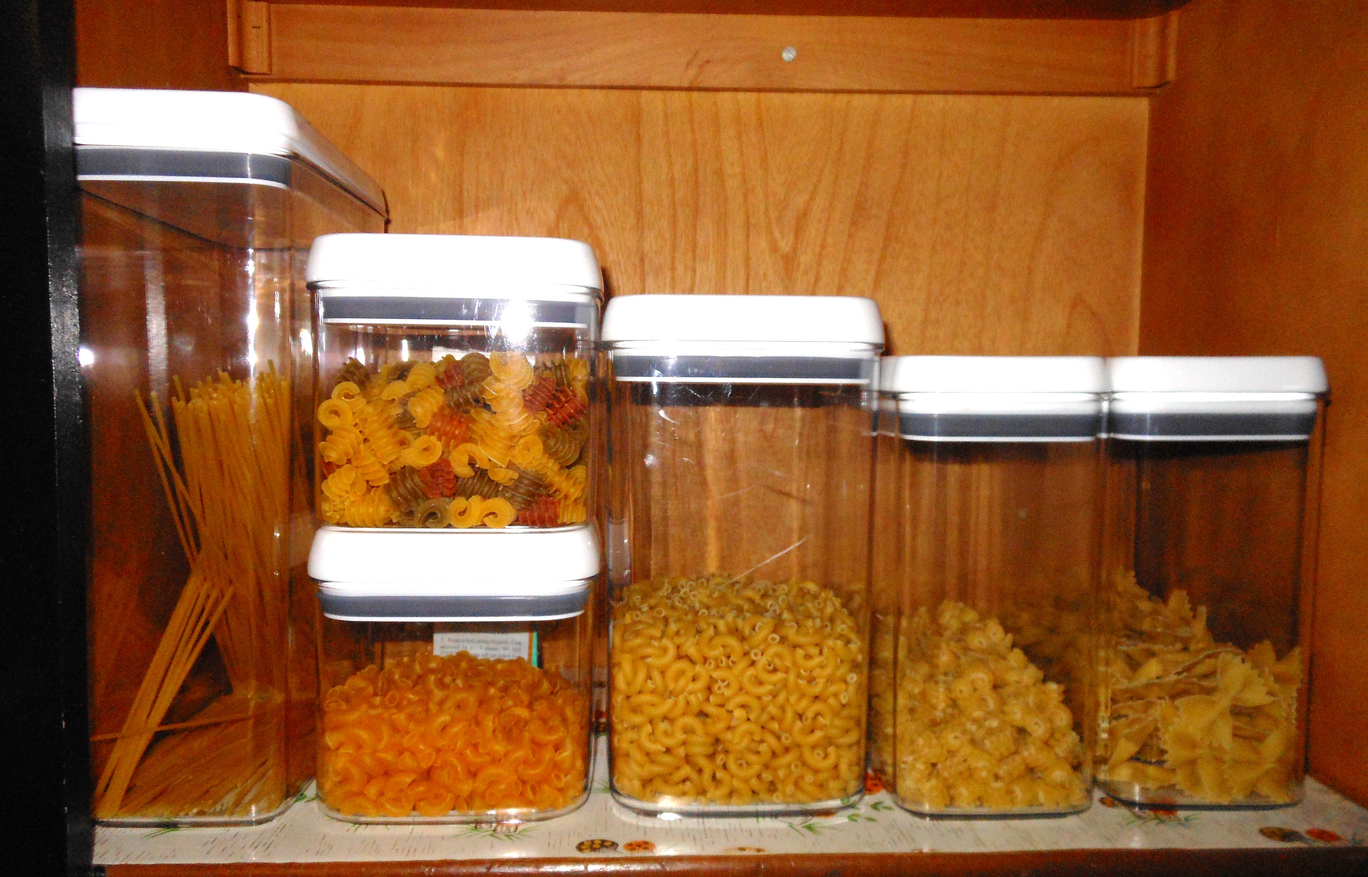 AFTER Photo of pasta shelf (closeup)
