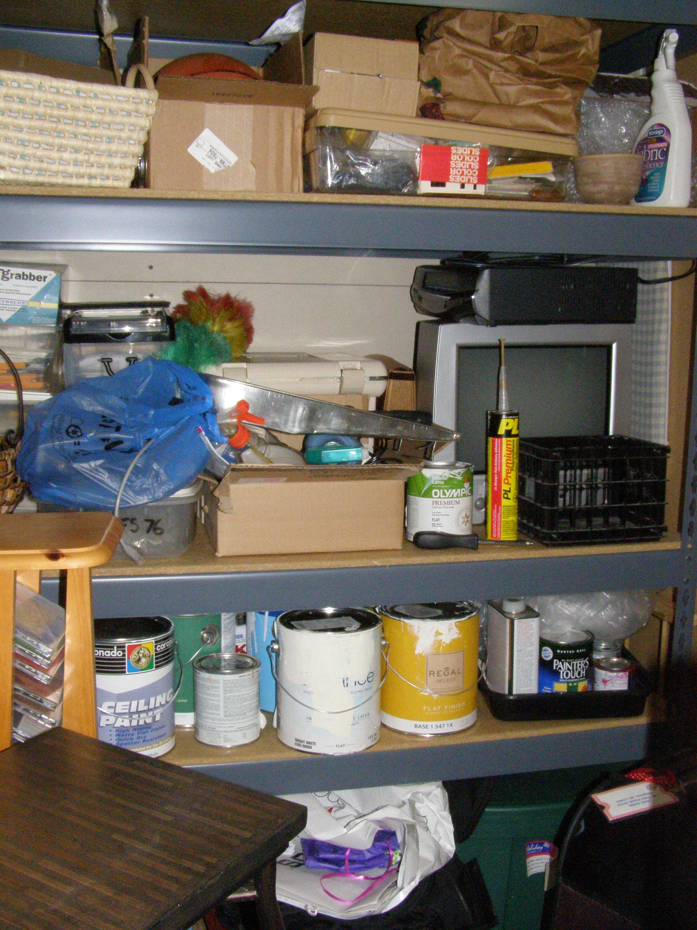 Shelf on Left of Room
